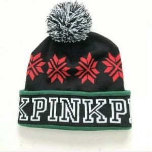 Victoria Secret Pink Beanie Hat Black